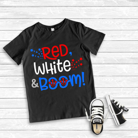 Red White and BOOM fireworks 4th of July SVG Twiggy Smalls Crafts