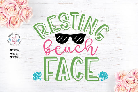 Resting Beach Face SVG Graphic House Design