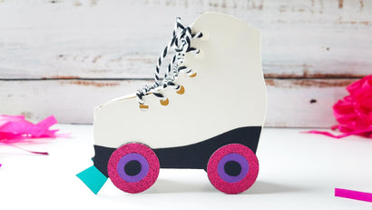 Roller Skate Favor Box 3D Paper So Fontsy Design Shop