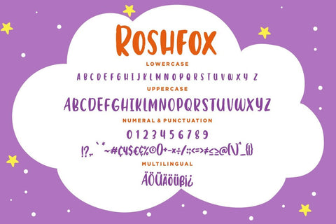 Roshfox Playful Display Typeface Font Creatype Studio