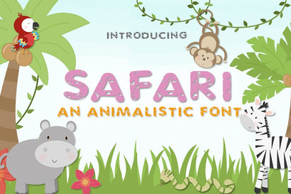 Safari Font Font Salt & Pepper Designs