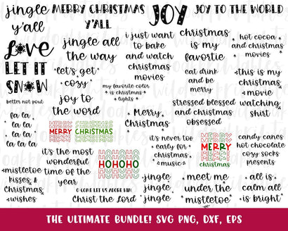 SALE the ultimate Christmas svg bundle, naughty svg Christmas svg, southern Christmas svg, funny Christmas svg, Christmas svg bundle, SVG WildOakSVG