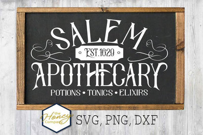 Salem Apothecary SVG PNG DXF Halloween Vintage Sign Instant Download Silhouette Cricut Cut Files Cutting Machine Vector File SVG The Honey Company