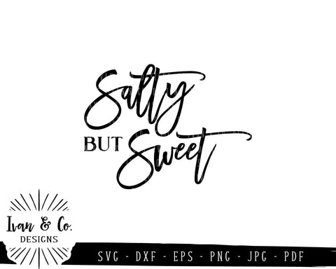 Salty But Sweet SVG Files | Salty Vibes | Vacation | Hello Summer | Summer SVG (782864107) SVG Ivan & Co. Designs