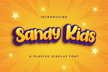Sandy Kids - Playful Display Font Font StringLabs