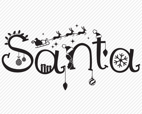 Santa | Christmas SVG SVG Texas Southern Cuts