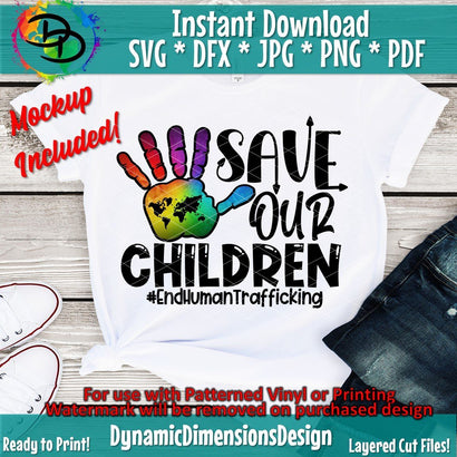 Save Our Children SVG DynamicDimensionsDesign