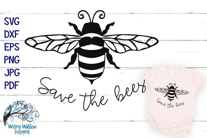 Save the Bees SVG SVG Wispy Willow Designs