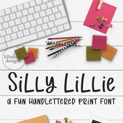 Silly Lillie Font lillie belles designs