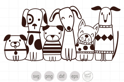 Six Cute Dogs SVG Ready Cut File SVG Lynda M Metcalf