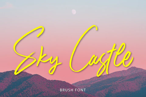 Sky Castle Brush Font Fajri Adi