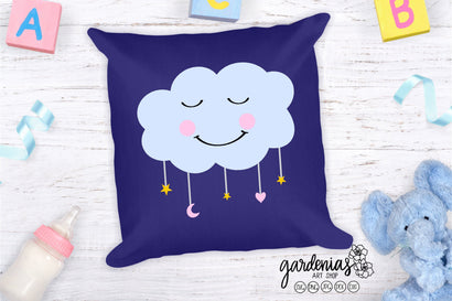 Sleeping Baby Cloud SVG Gardenias Art Shop