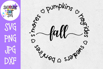 S'mores Hayrides Pumpkins Bonfires Sweaters - Fall SVG SVG ShootingStarSVG