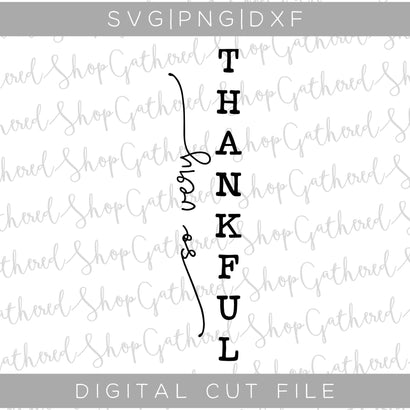 So Very Thankful Porch Sign SVG SVG ShopGathered
