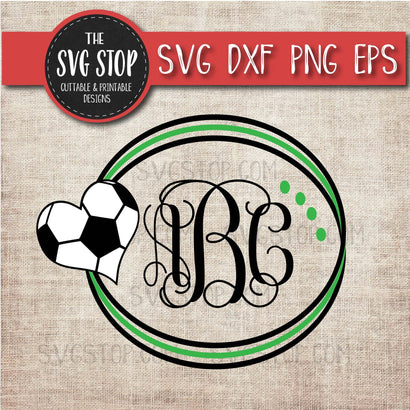 Soccer Circle Monogram Frame - Sports SVG SVG The SVG Stop