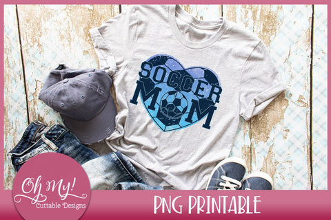 Soccer Mom Heart Sublimation Printable Sublimation Oh My! Cuttable Designs