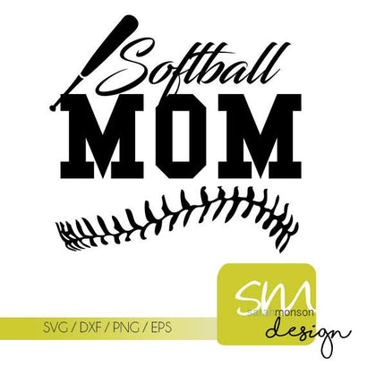 Softball MOM SVG SM Designs
