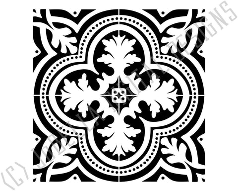 Spanish Tile SVG, Printable, Sublimation and Stencil Design SVG JoBella Digital Designs