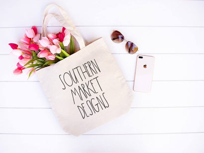 Spring Canvas Tote Mock Up Stock Photo Mock Up Photo Southern Market Designs