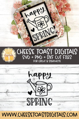 Spring SVG | Happy Spring SVG Cheese Toast Digitals