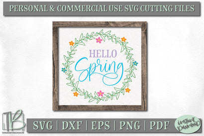 Spring Wood Sign SVG, Hello Spring SVG File SVG TB Designs