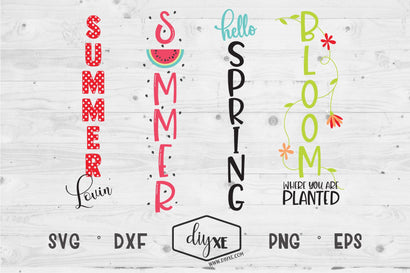 Spring/Summer Welcome Sign Bundle - A Collection Of Front Porch Sign SVG Cut Files SVG DIYxe Designs