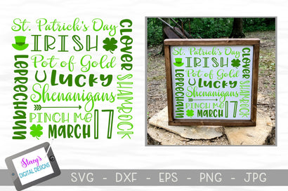 St. Patrick's Day Subway Art SVG SVG Stacy's Digital Designs