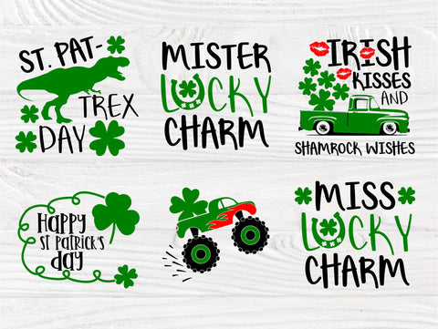 St Patrick's Day SVG Bundle | St Patrick's Day Sayings | Mister and Miss Lucky Charm Svg | St Patrick's shirt Designs | Cricut Cut Files SVG TonisArtStudio