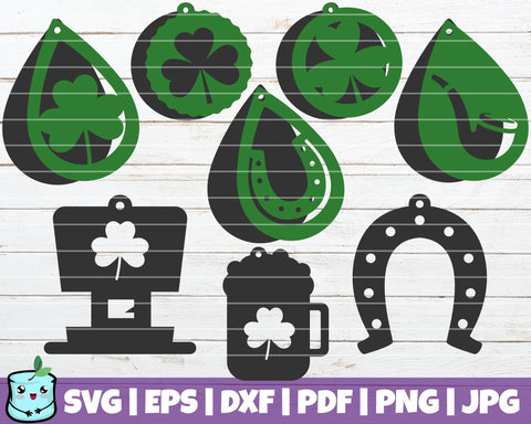 St Patricks Earrings SVG MintyMarshmallows