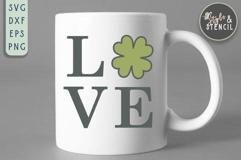 St. Pattys Day Love SVG - SVG, PNG, EPS, DXF, Cut File SVG Style and Stencil