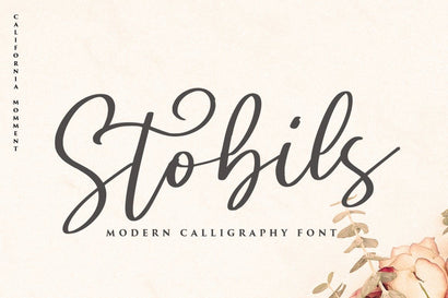Stobils - Calligraphy Font Font Vultype Co