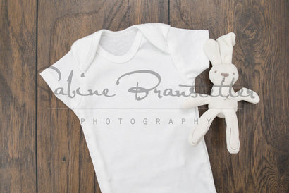 "Styled Stock Photography ""Bunny Love"" Mockup-Digital File White Baby Onesie with Bunny Stuffed Animal Gender Neutral Mock Up Mock Up Photo SabineBPhotography"