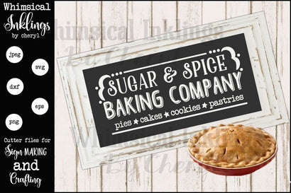 Sugar and Spice Baking Company SVG SVG Whimsical Inklings