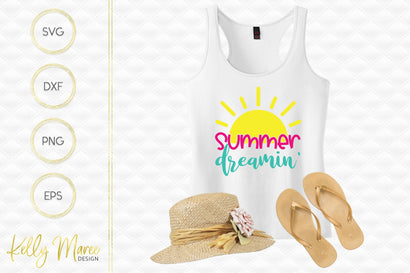 Summer Dreamin' SVG Cut File Kelly Maree Design