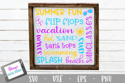Summer Subway Art SVG SVG Stacy's Digital Designs