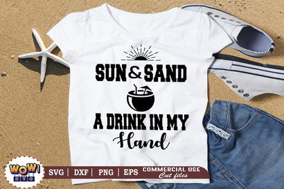 Sun and sand a drink svg, Summer svg, Beach svg, Png, Dxf SVG Wowsvgstudio