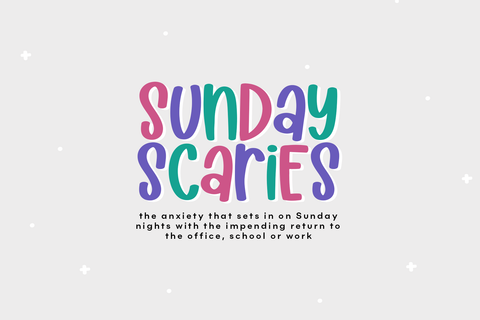 Sunday Scaries - Fun Handwritten Font Font KA Designs