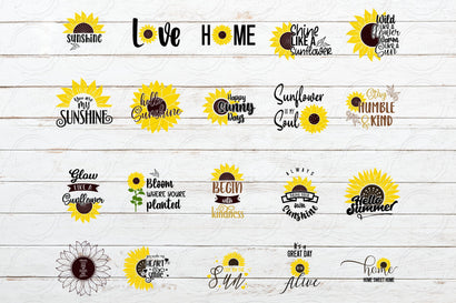 Sunflower Quote svg Bundle, 20 Sunflower svg Bundle SVG SmmrDesign