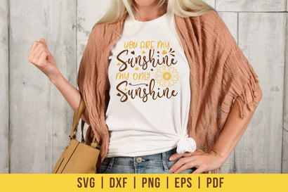 Sunflower SVG, You Are My Sunshine My Only Sunshine SVG CraftLabSVG