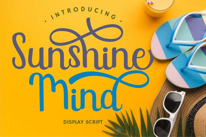 Sunshine Mind - Display Script Font Font PutraCetol Studio
