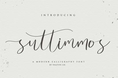 Suttimmos - Calligraphy Font With Swashes Font Vultype Co