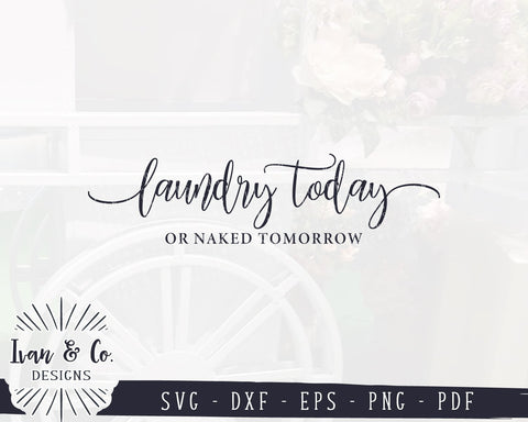 SVG Files | Laundry Today or Naked Tomorrow Svg | Funny Laundry Svg | Farmhouse | Commercial Use | Cricut | Silhouette | Digital Cut Files (983614462) SVG Ivan & Co. Designs