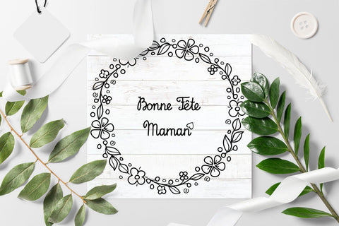 svg Happy mother's day greeting card in France Bonne Fete Maman SVG Zoya Miller