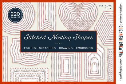 SVG Stitched Nesting Shapes for card making | sketch foil quill draw score | stitch edge paper crafts Sketch DESIGN CleanCutCreative