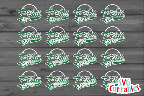 T-Ball Family SVG Svg Cuttables