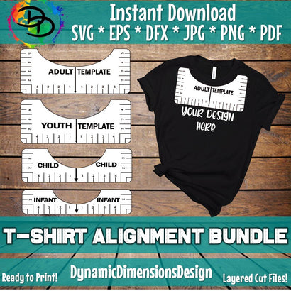 T-Shirt Alignment Tool SVG DynamicDimensionsDesign