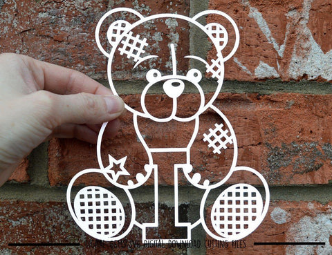 Teddy bear full alphabet SVG / DXF / EPS files SVG Digital Gems