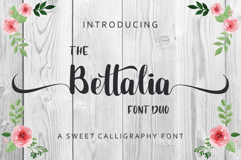 The Bettalia Font Duo Font Anastasia