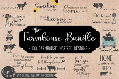 The Farmhouse Bundle SVG Designs by Jolein
