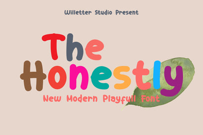The Honestly Font Willetter Studio